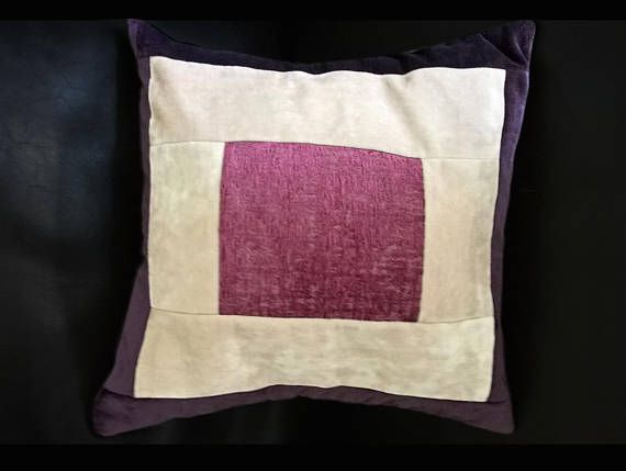 Purple and pink cushion cover