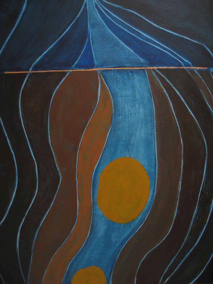 Ta panta rei-acrylics on 60x80cm canvas