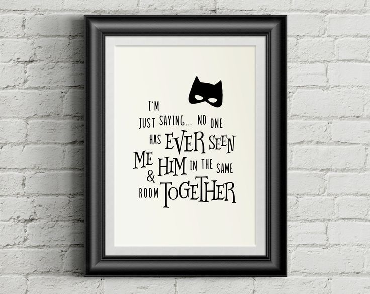 funny quote for boys - Me and Batman never seen Together - PDF JPG PNG jpeg - Printable Artwork - digital art nursery boys- instant download by CleanCutCreative on Etsy