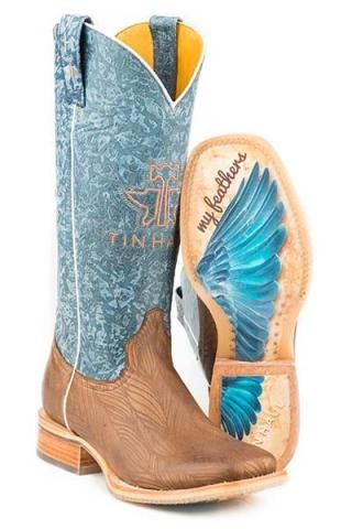 33df5ad6785 Women's Boots Tin Haul Brown Don't Ruffle My Feathers With Angel ...