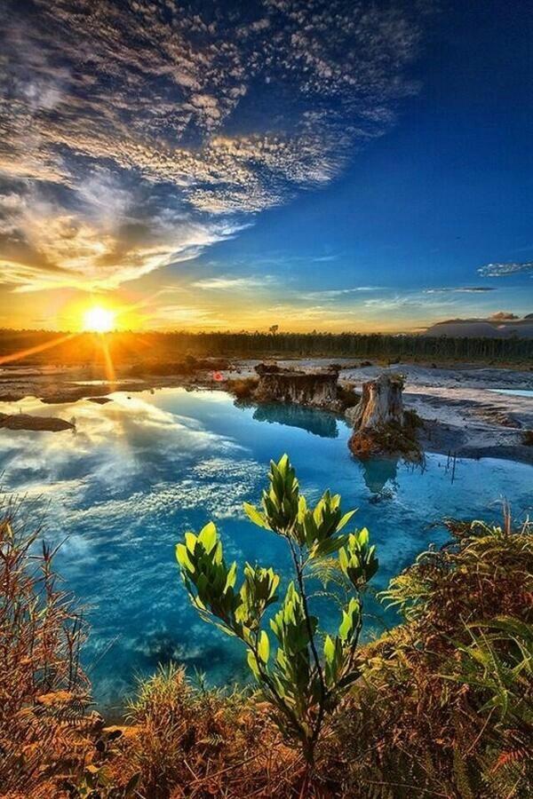 Blue Lake, Singkawang. Indonesia