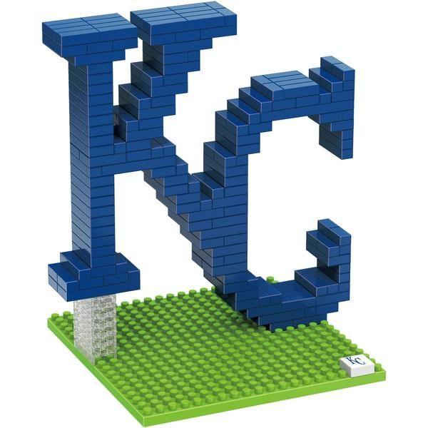 Kansas City Royals MLB 3D BRXLZ Construction Puzzle Set - Team Logo