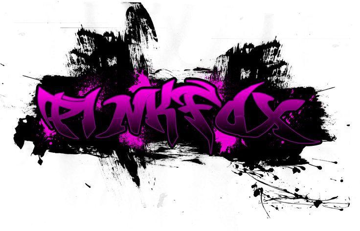 PinkFox Graffiti Logo by Digital-SilverEyes.deviantart.com on @DeviantArt
