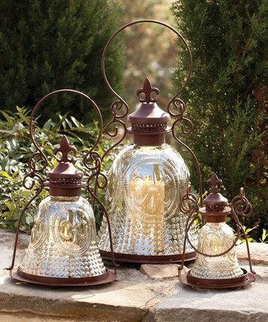 Take a look at this Fleur-de-Lis Lantern Set by Evergreen on #zulily today!