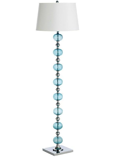 Blue Glass Ball Floor Lamp From Pier One $175