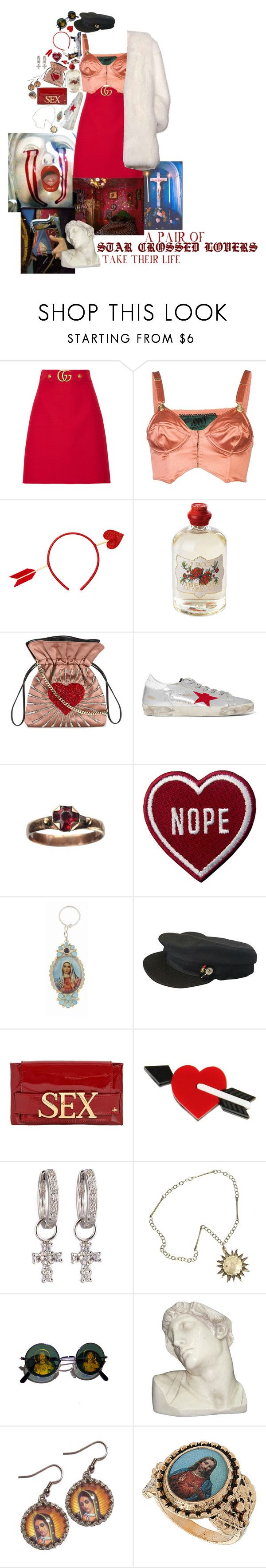 """""""Untitled #596"""" by blueb0y ❤ liked on Polyvore featuring Balenciaga, Gucci, Jean-Paul Gaultier, Soap & Paper Factory, Les Petits Joueurs, Golden Goose, Virgins Saints & Angels, Chanel, Vivienne Westwood and Derek Lam"""