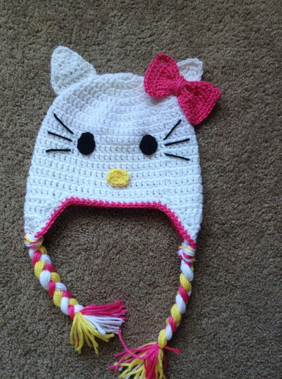 Hello Kitty Baby Hat Knitting Pattern : 17 Best images about GetN Hooked - Custome Crochet By Tiffinie. on Pinte...