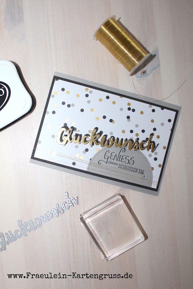 Glückwunschkarte mit Produkten von Stampin´ Up!