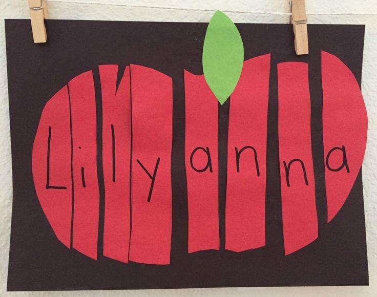 Apple Name Activity (from Ms. Stephanie's Preschool)
