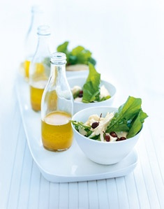 These do-ahead salads and bottled dressings ensure guests' salads don't arrive at the table soggy