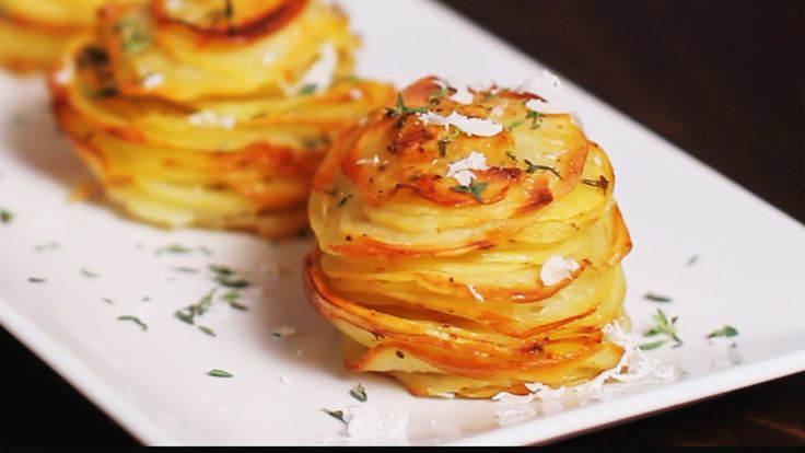 Parmesan Potato Stacks Recipe - YouTube