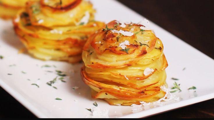 Parmesan Potato Stacks Recipe