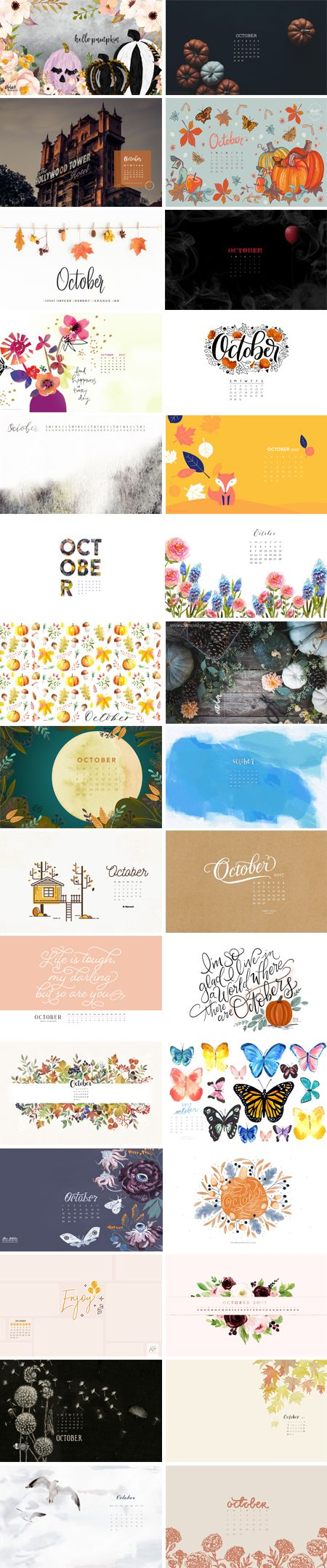 October 2017 – Wallpaper Round-Up