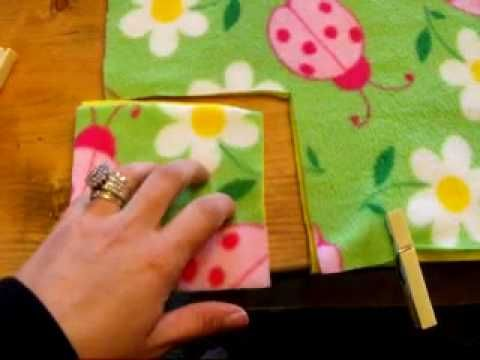 Make no-sew tie blankets (or pillow cases) for a children's hospital, nursing home, homeless shelter, etc.