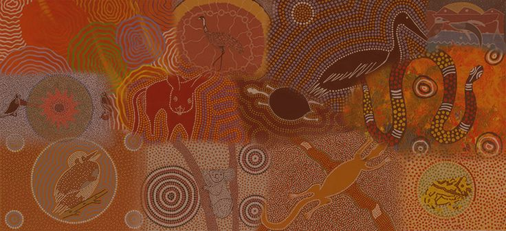 "The image ""Dreamtime"" (Kullilla-art, 2014)"