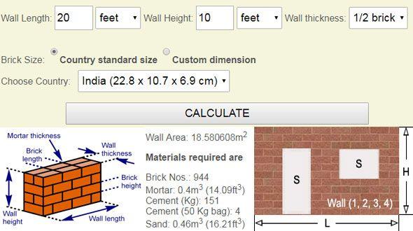 demo of online brick calculator 3d modeling design in 2019 rh pinterest com