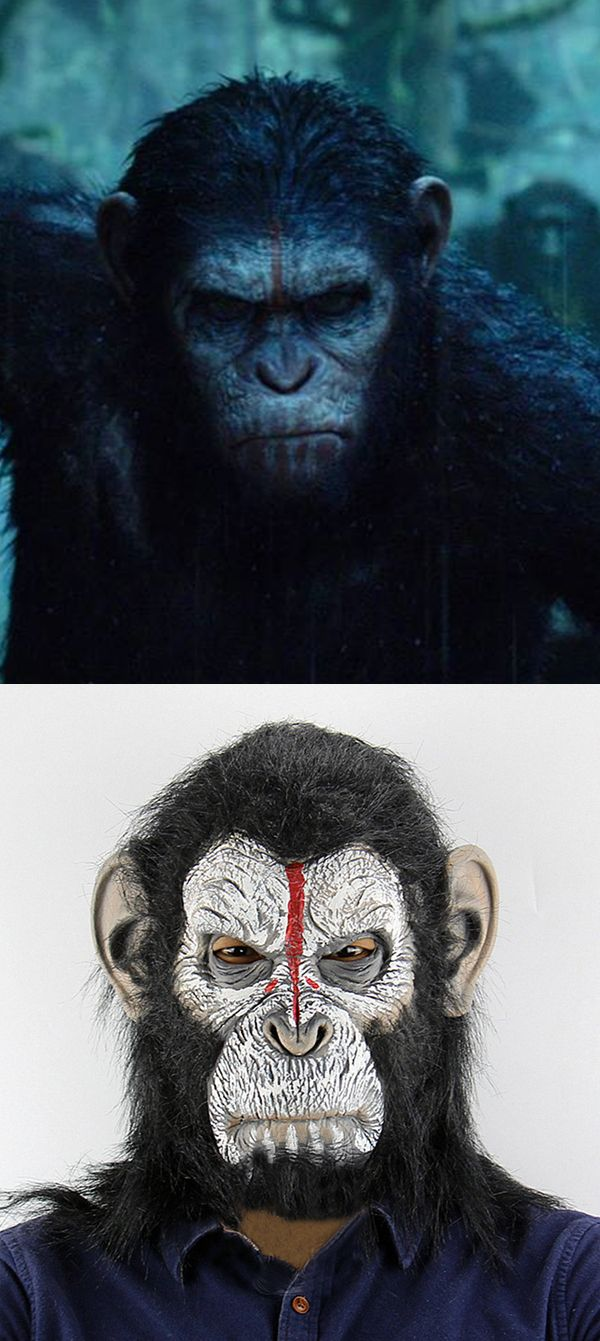 rise of the planet of the apes mask, classic movie halloween mask, best realistic halloween mask for sale