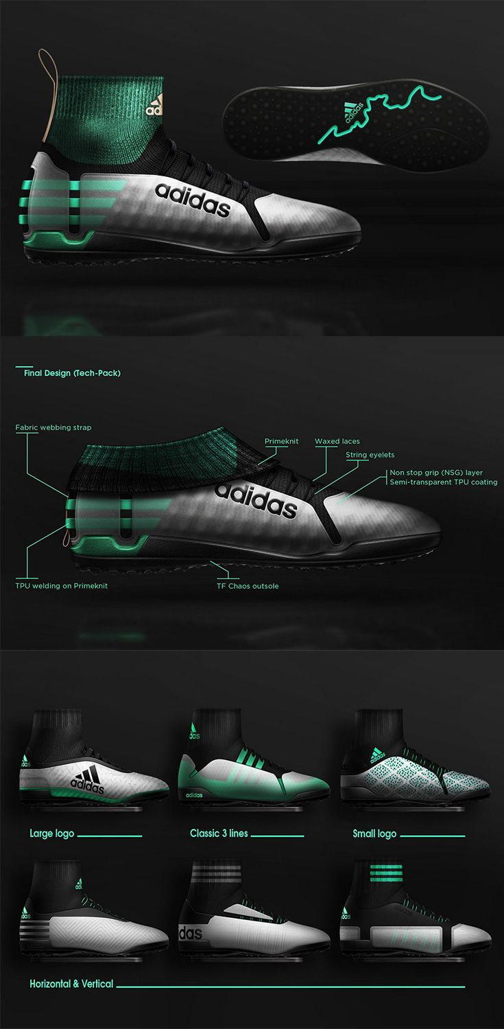 The 'Adidas Turf Soccer cleats concepts' has a clear target audience, its for the increasing trend in Women's Soccer world over, the design is all about efficiency, the cleats have a clever design that allow them to morph between sportswear and casual-wear... READ MORE at Yanko Design !