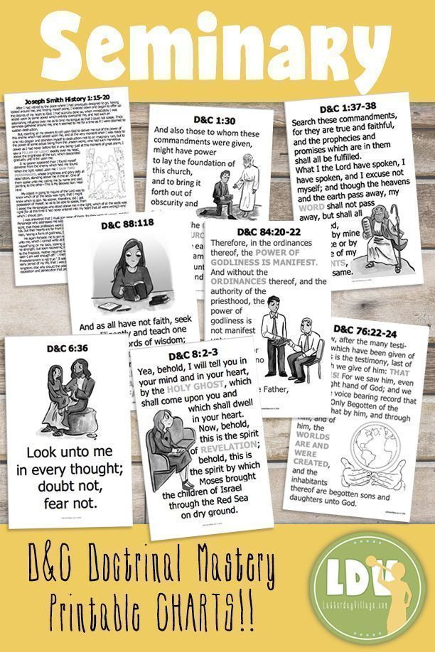 D C Doctrinal Mastery Charts Pdf Files For 11 X17 Printable