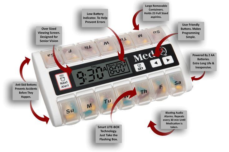 7 Day Programmable Pill Dispenser For Kids Medicine