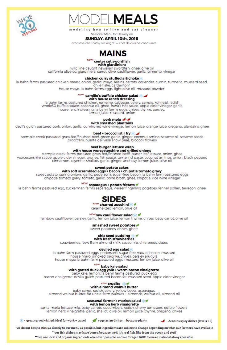 34 best Model Meal Menus images on Pinterest | Model, Economic model ...