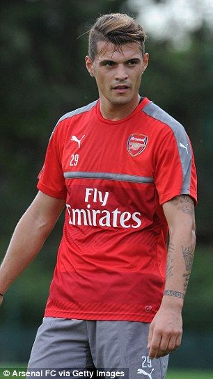 Hellooooo new boy Granit Xhaka getting ready for the new season.....pinned 23 July 26 *A*
