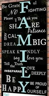 Rules for the Home:    ✿Be grateful ✿ No Fighting ✿ Please and Thank you ✿Share ✿ Stay Calm ✿ Dream Big ✿ Speak Kindly ✿ Say I love you ✿ Tell the Truth ✿ Love ♥  Deeply ✿ Be Happy ✿ Be Proud of Yourself