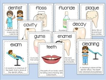 DENTAL HEALTH ACTIVITIES-HAPPY TEETH! - TeachersPayTeachers.com ... create my own set for the bulletin board for Dental week