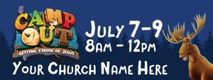 Camp Out VBS - Custom Banners