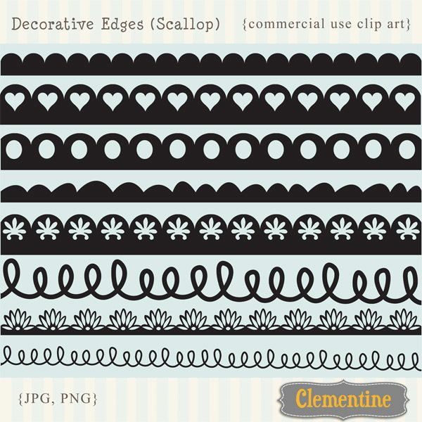 Decorative Borders Clip Art Images Royalty Free Scallop Etsy Clip Art Clip Art Borders Art Images