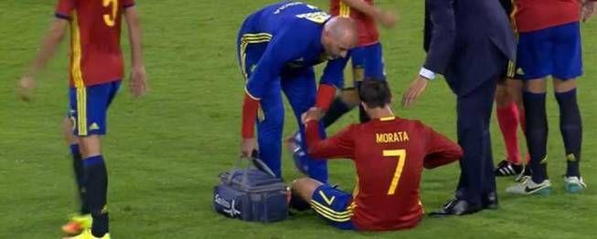 Bélgica-España: Morata sufrió un fuerte golpe y fue sustituido por precaución - AS.com