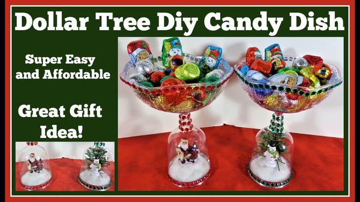 Dollar Tree Diy 🎄 Christmas Candy Dish YouTube