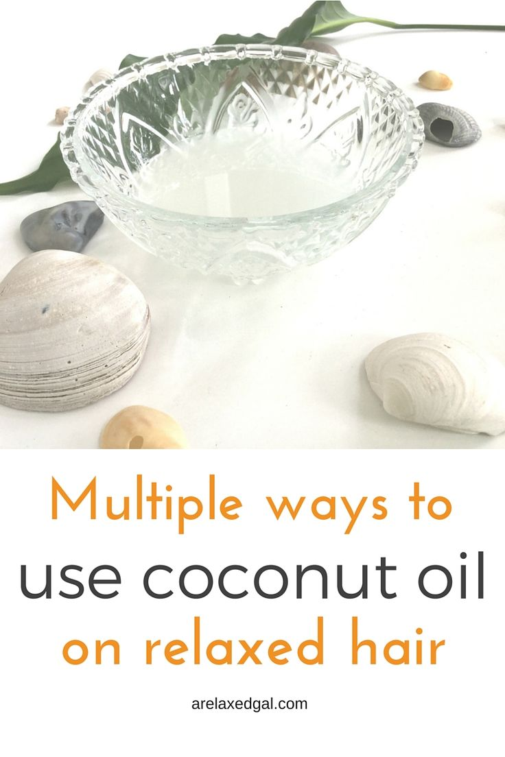 Coconut oil has become a popular  hair product. Here are four ways it can be incorporated into a relaxed hair regimen.   arelaxedgal.com
