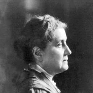 Jane Addams. She was the founder of Hull House and became the secular saint of social work.