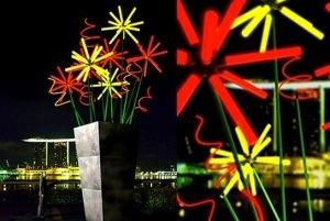 Eco-friendly: lampade.  L'evento Eco-friendly iniziato a Singapore, è il primo festival sostenibile di tutto il mondo Asiatico. Si tratta di una presentazione dove sono installati impianti di illuminazione interamente sostenibili: composti da materiali riciclati, si alimentano con energia rinnovabile e le luci sono caratterizzate da LED a basso consumo