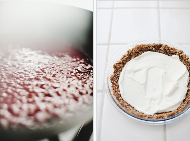 Yogurt and Goat Cheese Tart with a gluten-free oat crust, from Sprouted Kitchen