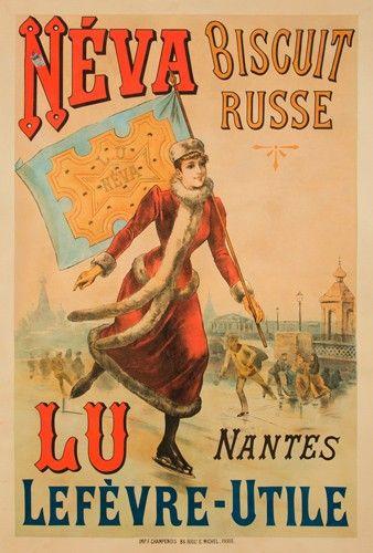 Néva, biscuit russe - Lefèvre-Utile, Nantes - 1892 -