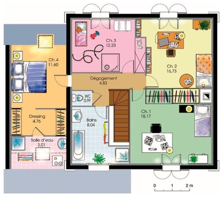 Bien connu 69 best plan maison images on Pinterest   Projects, Floor plans  LW33