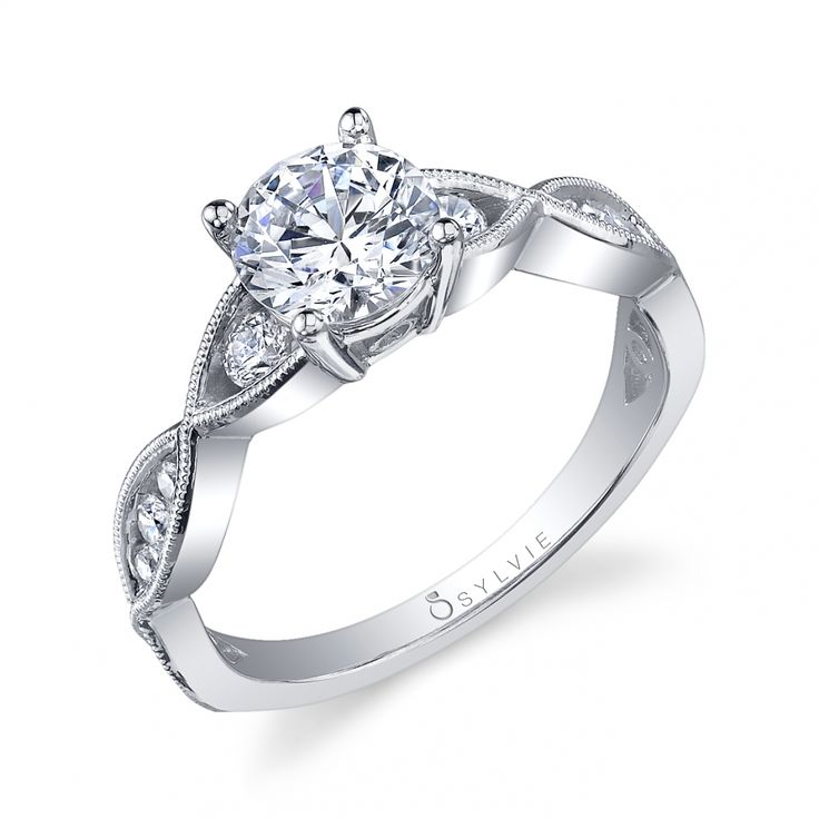 Engagement Rings Quiz: Vintage Crisscross Solitaire Diamond Engagement Ring