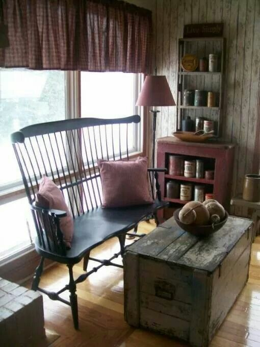 47 Best Images About Primitive Living Rooms On Pinterest Primitive Living Room Country Lamps