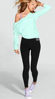 VS PINK Yoga Pants: Women's Yoga Bottoms from Victoria's Secret PINK.  Want this outfit!!!!