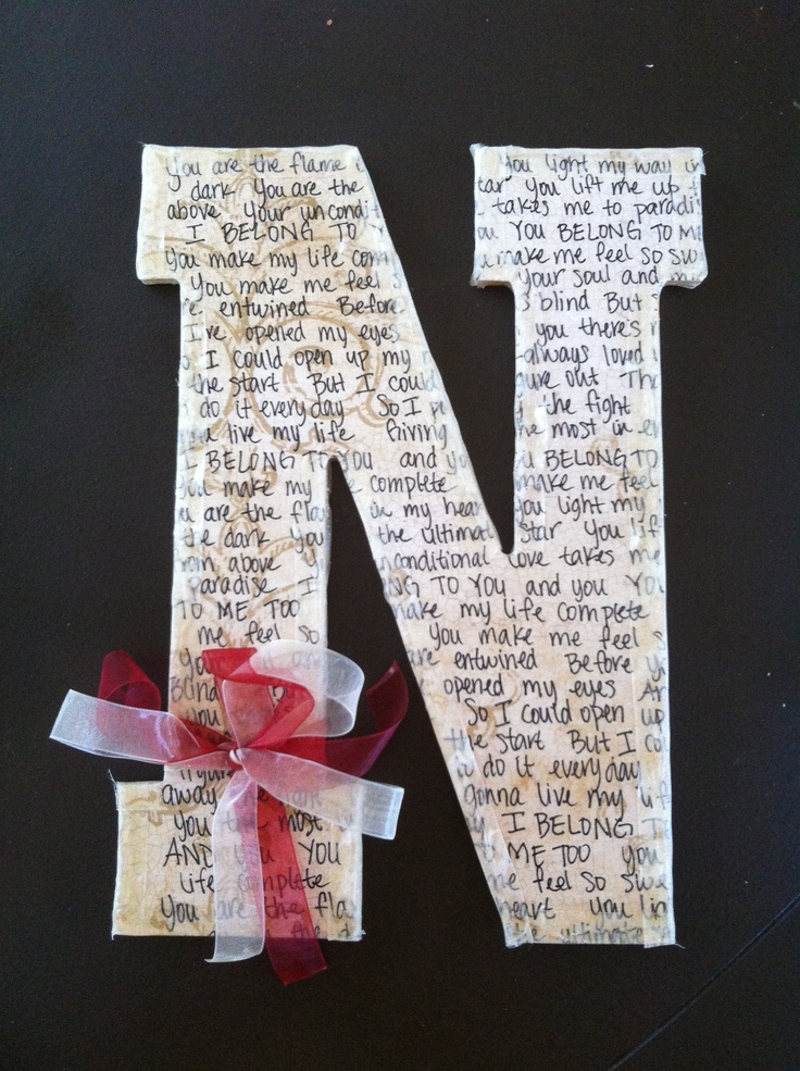 Sentimental Wedding Gift Ideas For Brother : ... wooden letters love letters sentimental gifts homemade gifts diy gifts