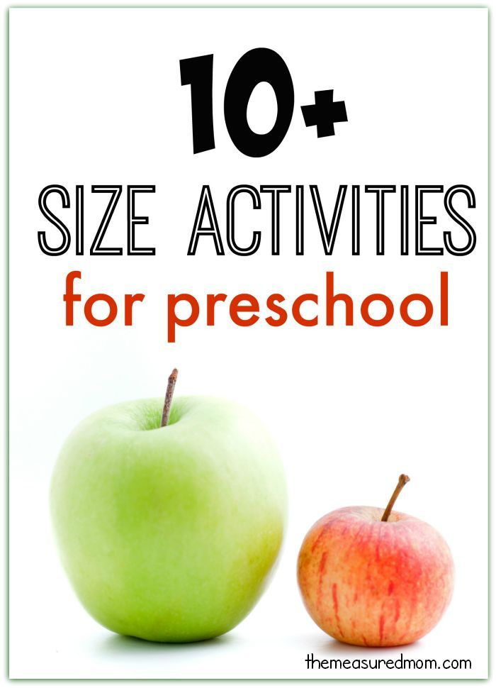 10 Big And Small Activities For Preschool