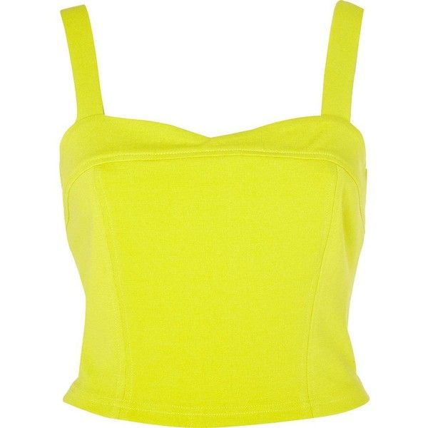 River Island Lime bow back cropped top ($11) ❤ liked on Polyvore featuring tops, crop top, shirts, bow shirt, lime green top, shirt crop top, lime green shirt and reversible shirts