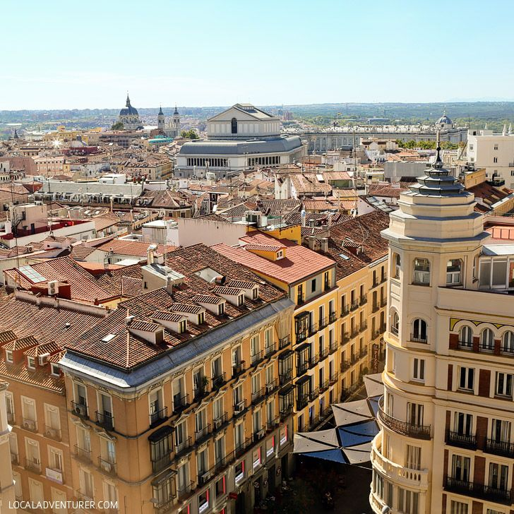 Have Lunch with a Great View at the Gourmet Experience at El Corte Ingles Shopping Center (21 Remarkable Things to Do in Madrid Spain).