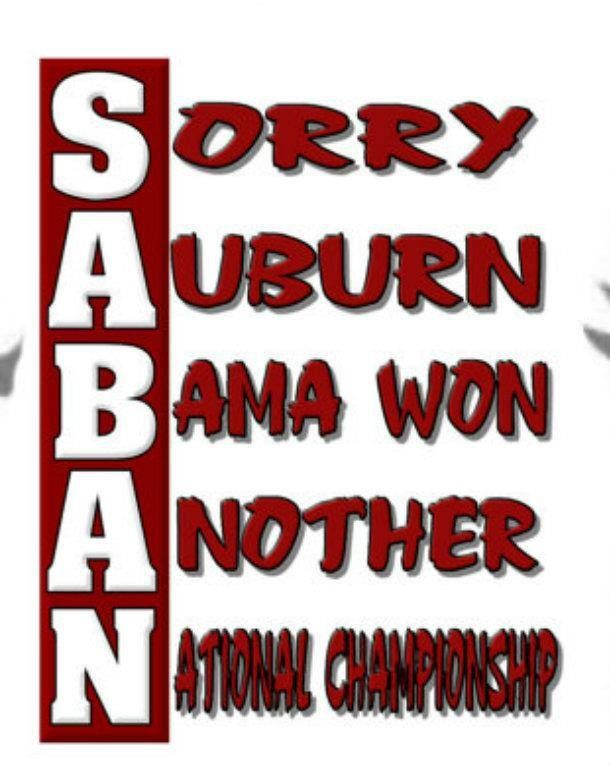 Couldn't help but laugh when I saw this sorry auburn fans......