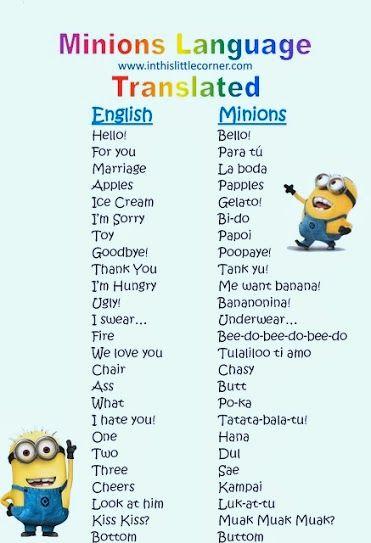 Minion language ;)