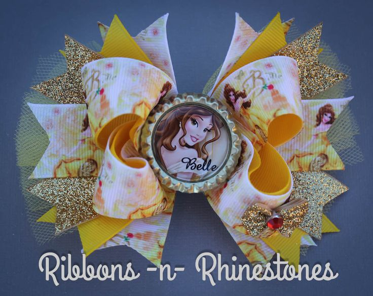 Princesa Belle arco belleza y el arco de la por RnRshairbowsandmore