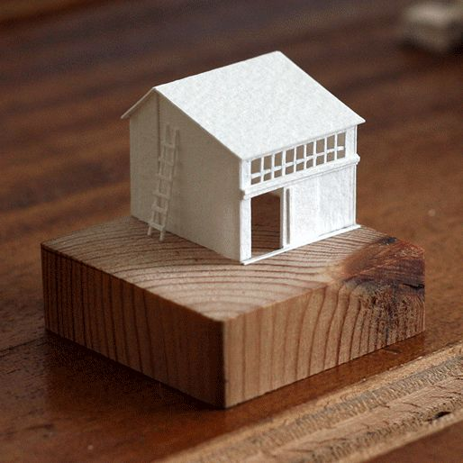 Paperholm by Charles Young Photo courtesy of Charles Young house - maquette de maison a construire