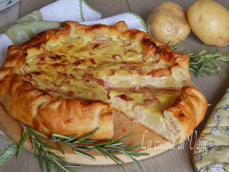 Torta rustica patate stracchino e mortadella